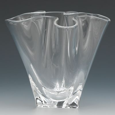A Steuben Ruffled Glass Vase 10 30 14 Sold 126 5