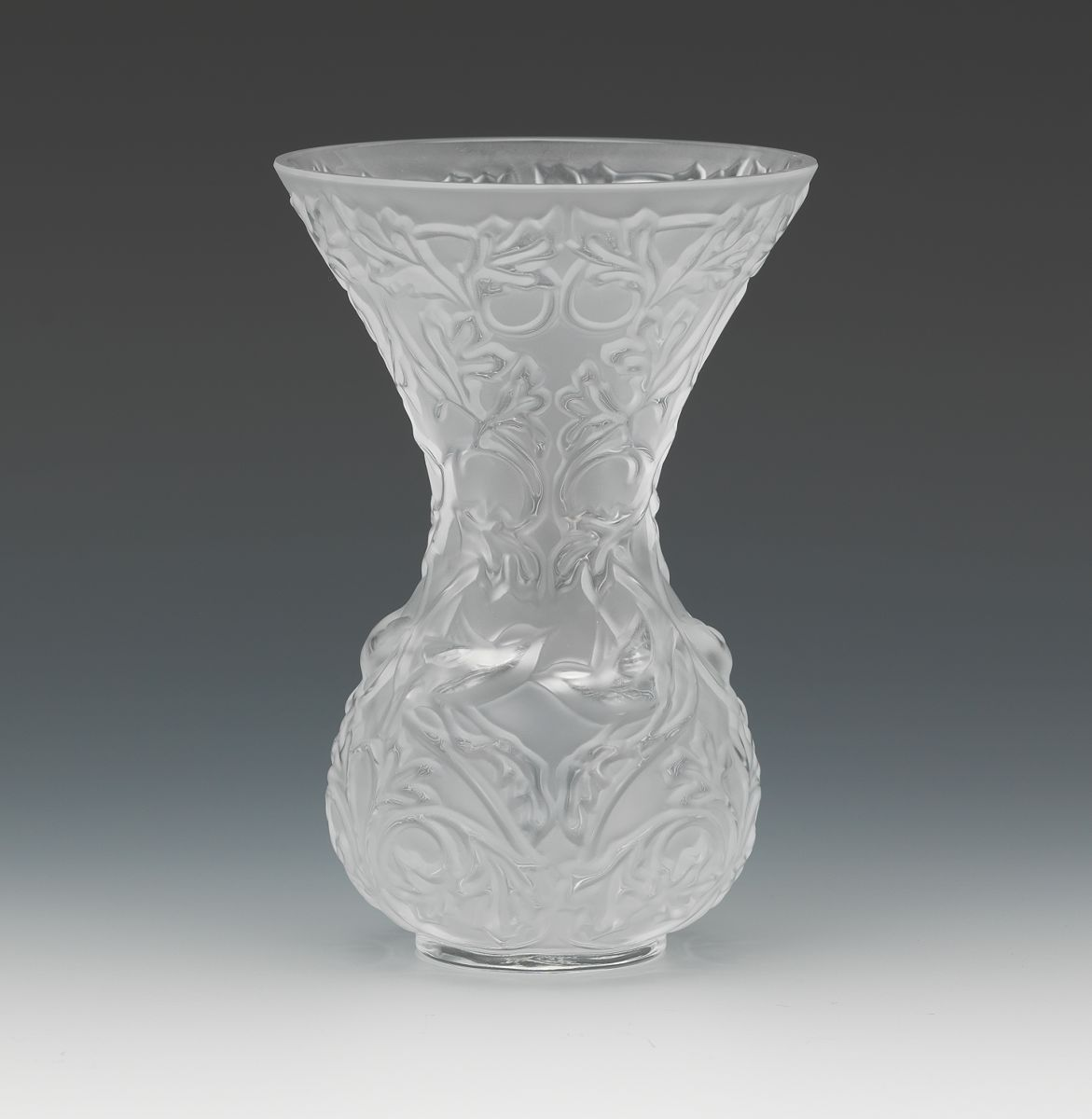 A lalique frosted glass arabesque vase 103014 sold 161 a lalique frosted glass arabesque vase reviewsmspy