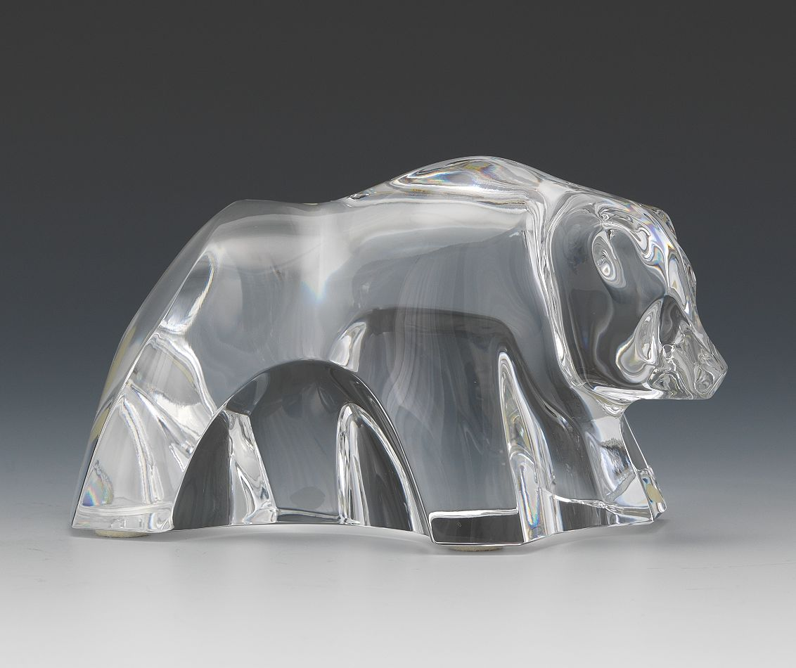 A Baccarat Crystal Bear 10 30 14 Sold 120 75