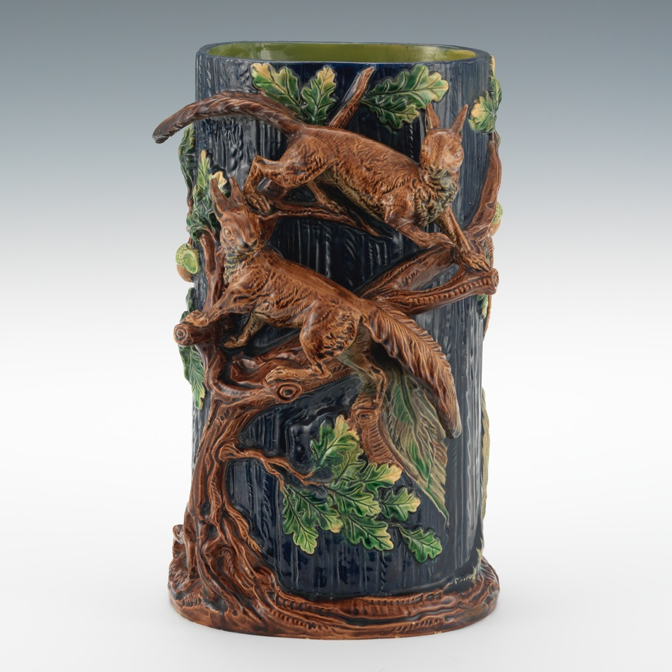 A majolica tree trunk vase 103014 sold 13915 a majolica tree trunk vase reviewsmspy