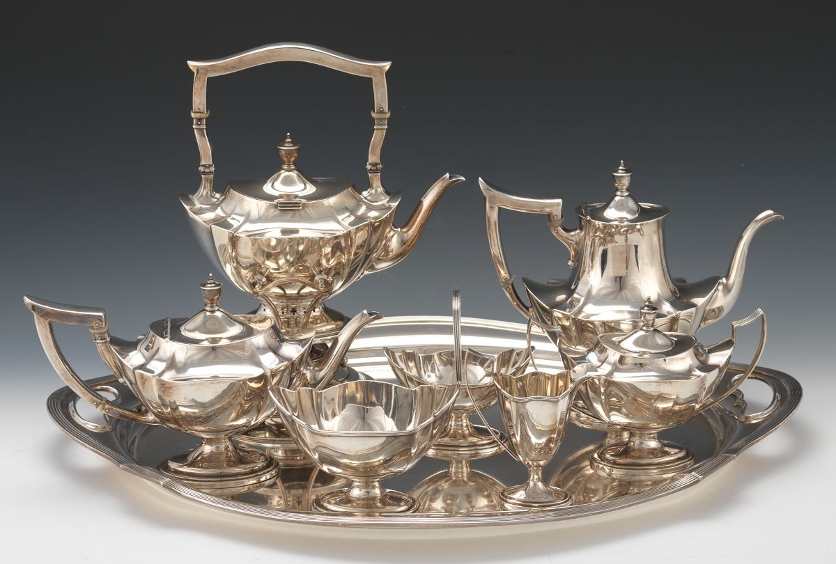 A Sterling Silver Tea And Coffee Service By Gorham In Plymouth Pattern