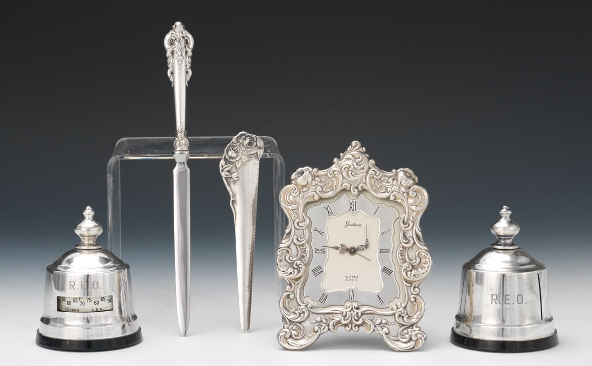 A Group Of Sterling Silver Desk Accessories Gorham Wallace Kirk Son