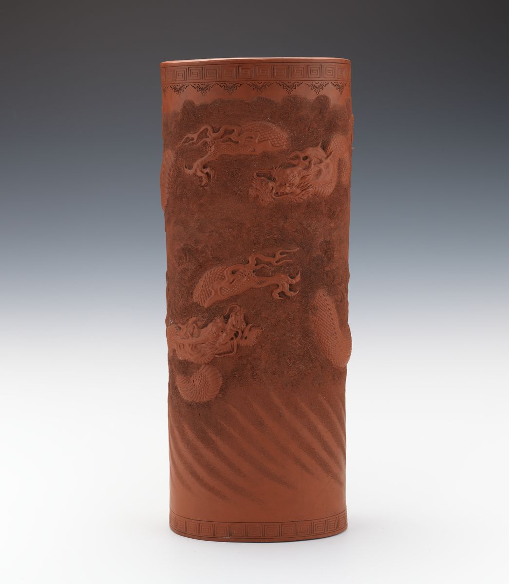Red Clay Dragon: Red Clay Dragon Japanese Umbrella Stand, 11.01.14, Sold