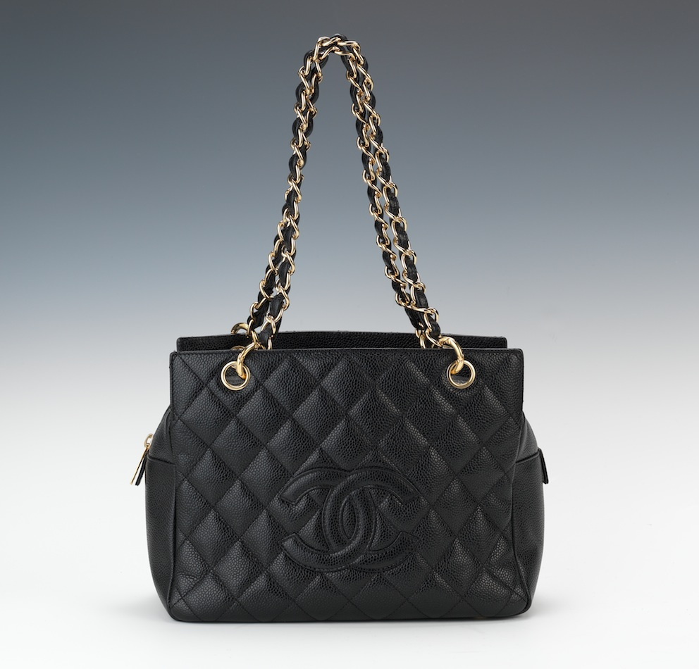 d98761211e67 Chanel Petite Timeless Shopping Tote in Black Caviar Leather