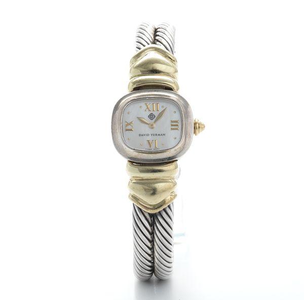 a ladiesu0027 sterling silver and gold watch by david yurman