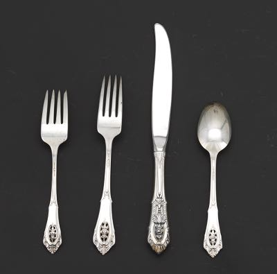 """Wallace Sterling ROSEPOINT ROSE POINT SUGAR SPOON 6/"""" No Mono"""