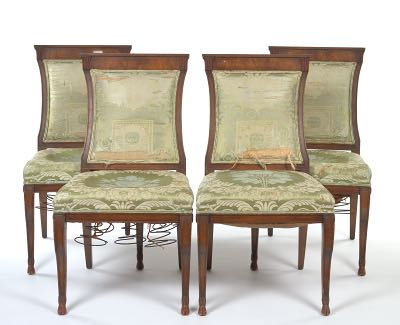 French empire style side chairs early 20th century for French furniture designers 20th century