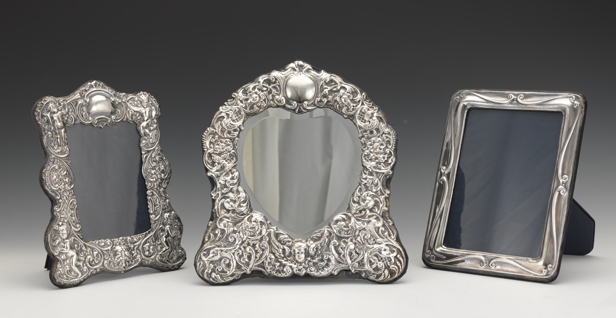 Rbb London English Sterling Silver Picture Frames And Mirror 1210