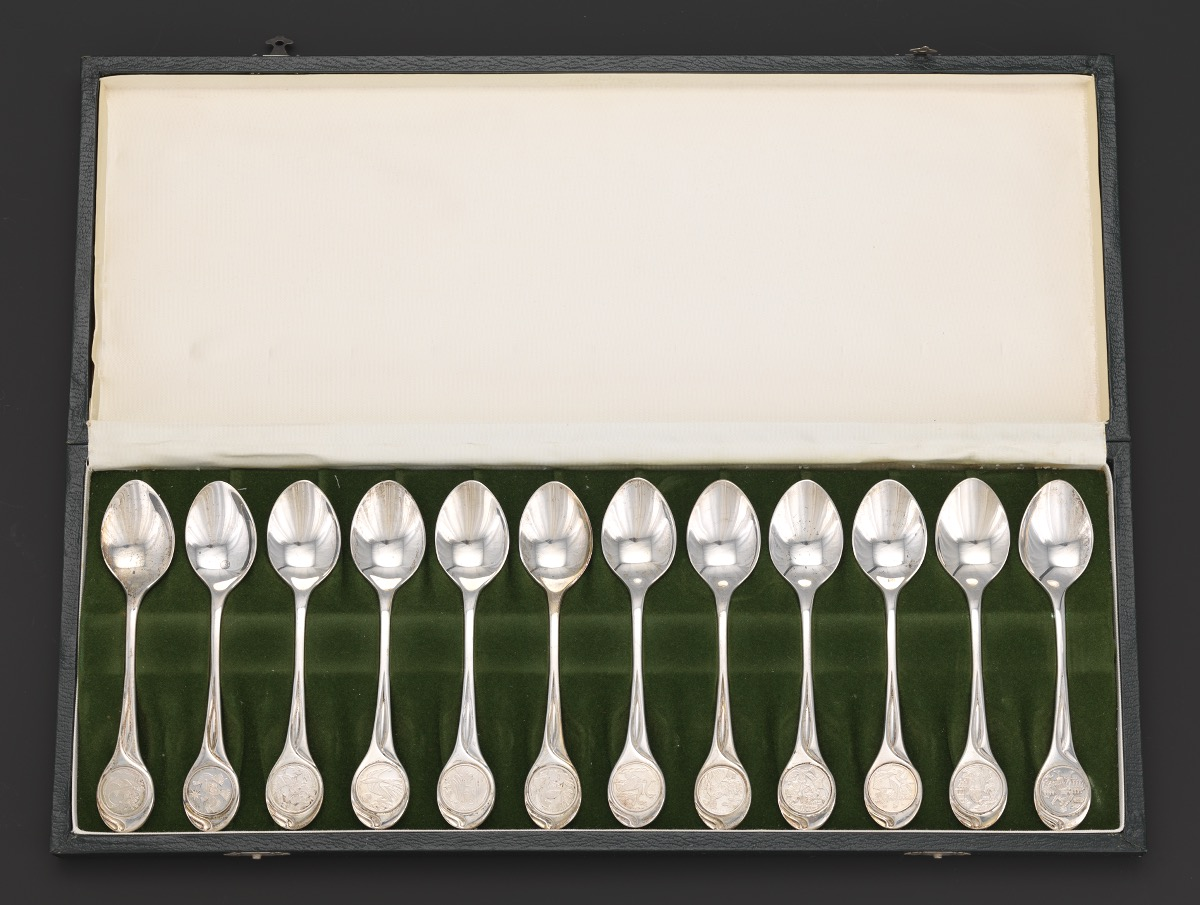 Twelve Days Of Christmas Sterling Silver Spoons Set In