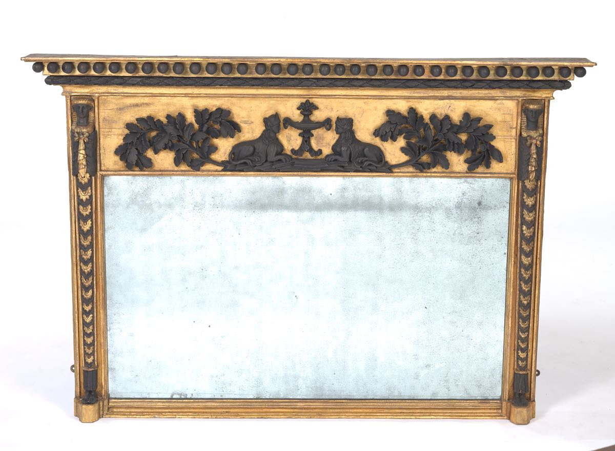 Regency Period Gilt Mirror With Egyptian Revival Decoration