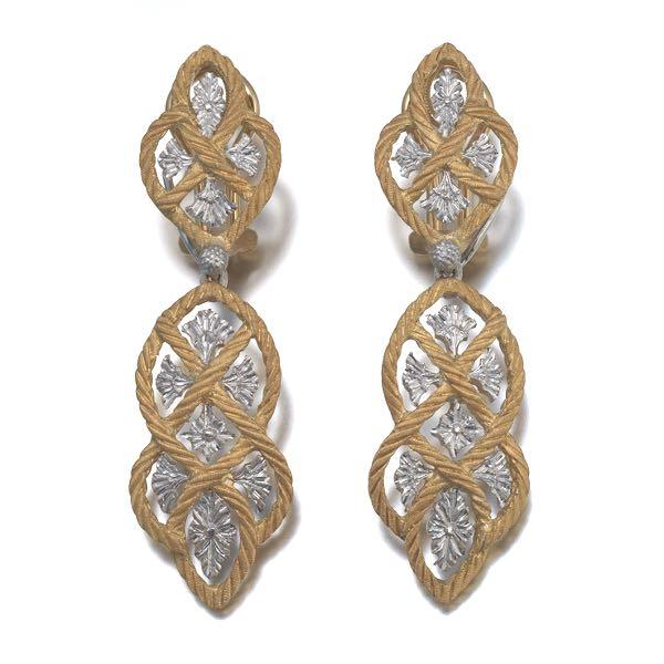 Buccellati Etoilee Pendant Earrings with Diamonds s9Ehqm7F