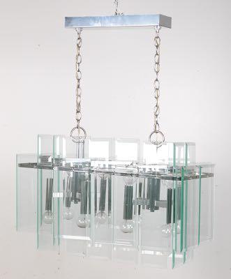 eight light forecast lighting vintage modern chandelier with beveled glass - Forecast Lighting