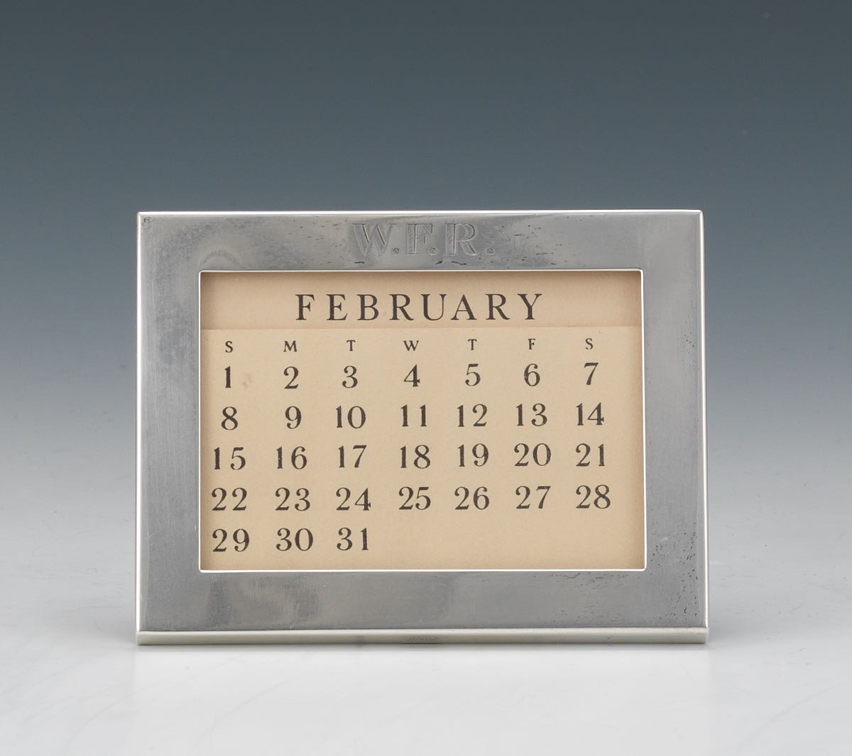Tiffany & Co. Sterling Silver Perpetual Calendar Frame, 02.19.15 ...