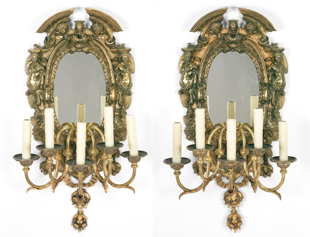 mirrored oh sconces sconce antique by decor wall mirror in