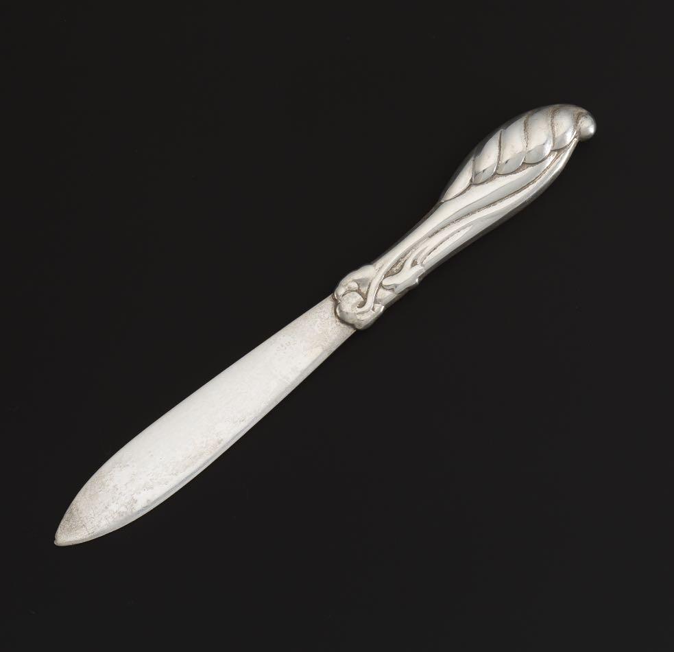 Danish Baroque Sterling Silver Handle Custom Made Letter Opener