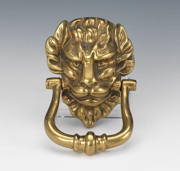 Vintage Brass Lion's Head Door Knocker - Decorative Arts - February 2015