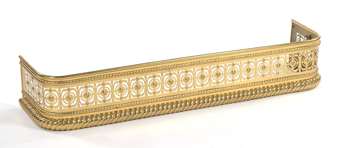 Bright Brass Fireplace Fender, 04.18.15, Sold: $63.25