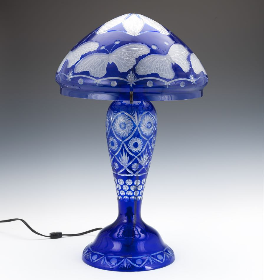 Asian Glass Lamp