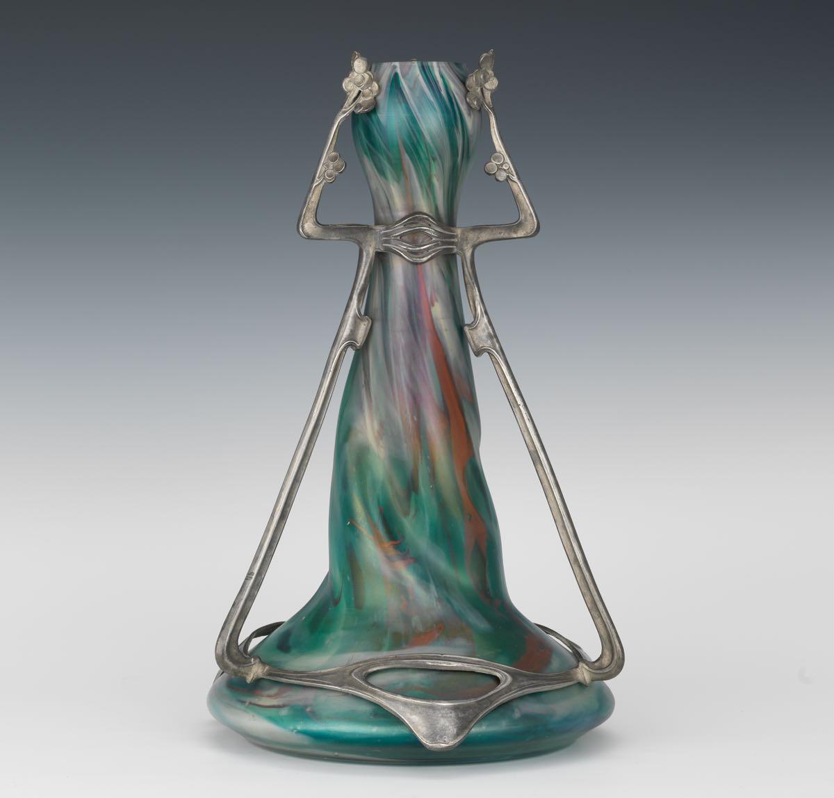 Rindskopf art nouveau vase with pewter mount 041815 sold 299 rindskopf art nouveau vase with pewter mount reviewsmspy