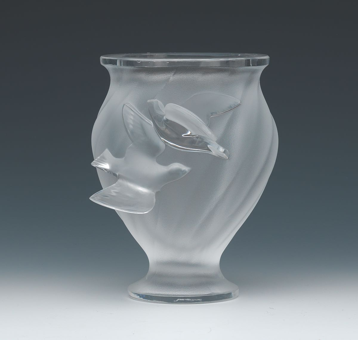 Lalique france crystal double dove vase 041815 sold 230 lalique france crystal double dove vase reviewsmspy