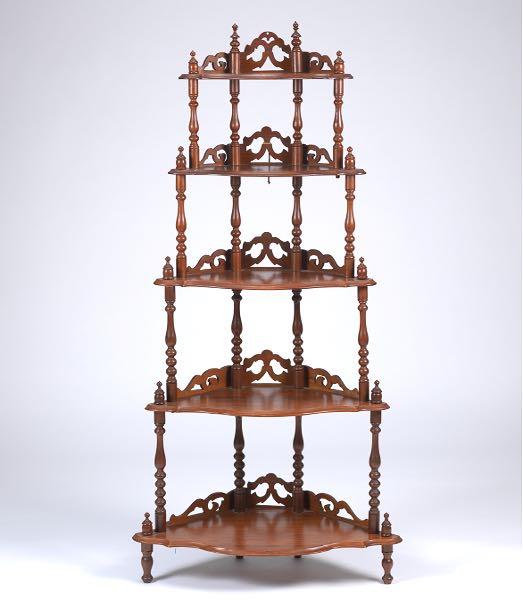 Delightful Corner Display Shelf, Or Whatnot