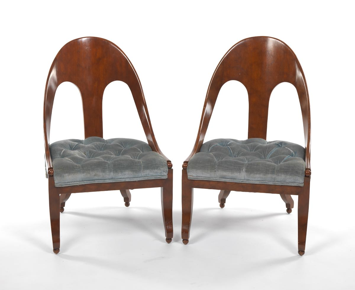 Michael Taylor For Baker, Pair Of Slipper Chairs
