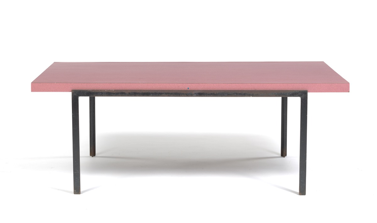 Florence knoll t angle formica and steel coffee table sold 29 5 Formica coffee table