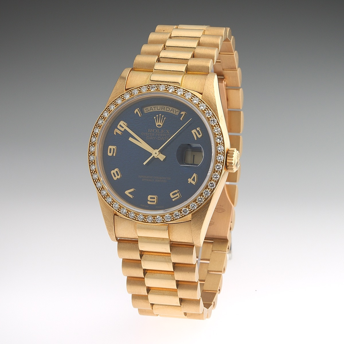 Rolex Gold And Diamond Oyster Perpetual Day Date Watch