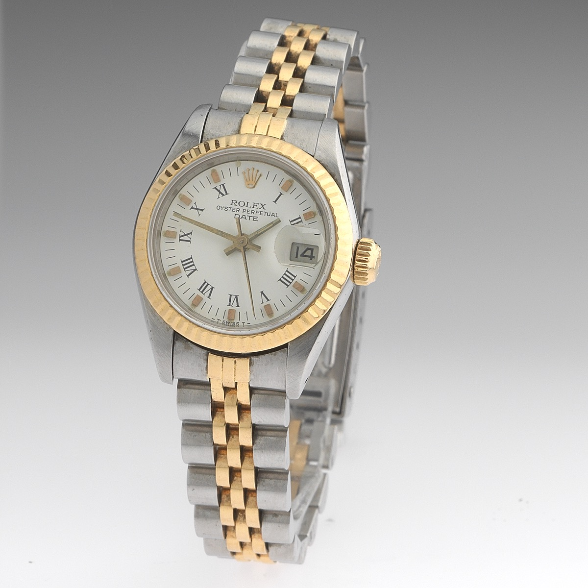 Ladies Rolex Two Tone Oyster Perpetual Date Watch 10 29