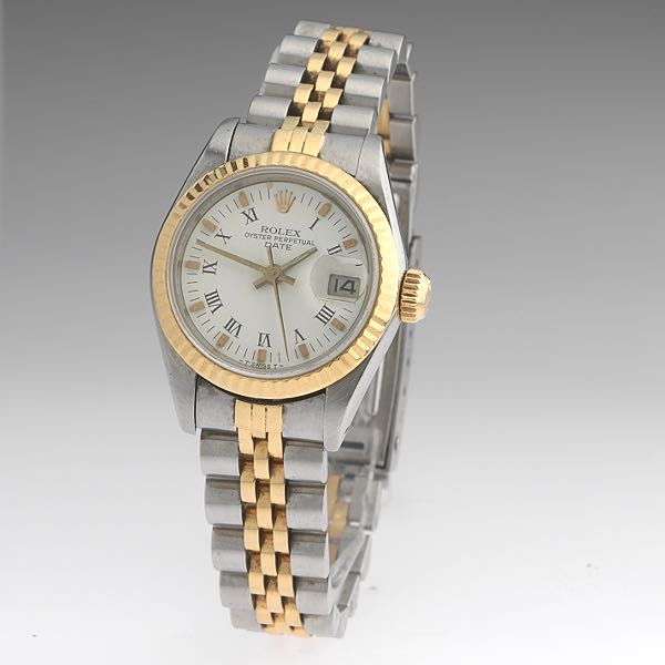 Rolex Gold And Diamond Oyster Perpetual Day Date Watch Circa 1990