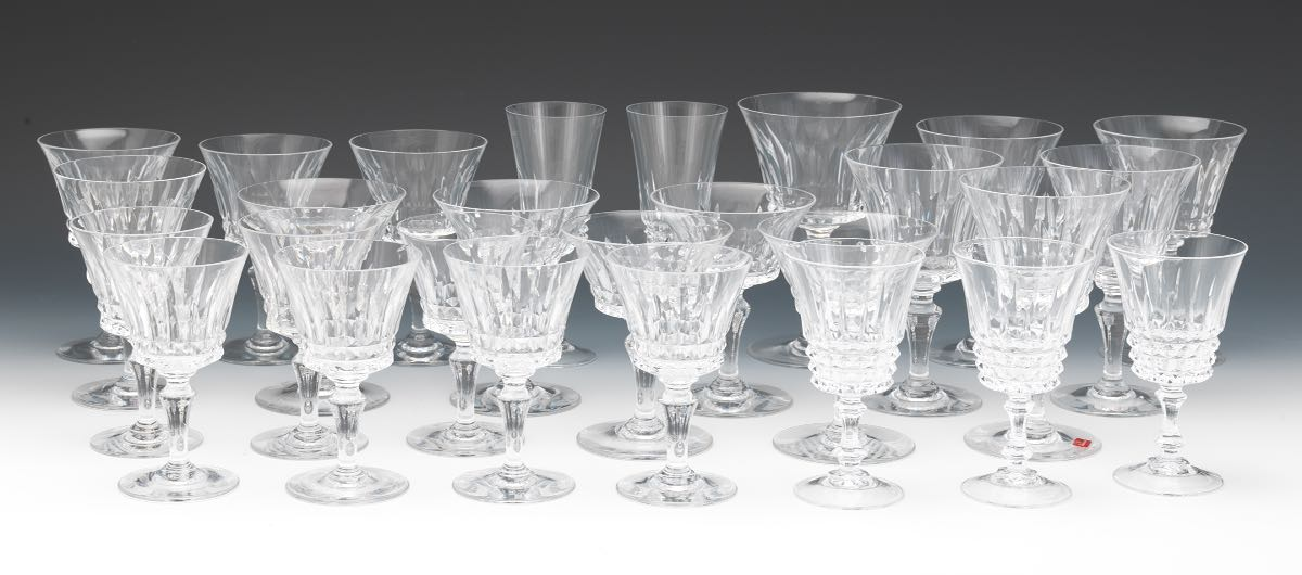Collection of crystal stemware baccarat piccadilly and unmarked - Baccarat stemware ...