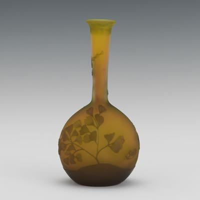 Galle Banjo Glass Vase 040716 Sold 5074
