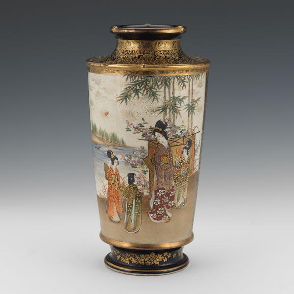 Japanese Satsuma Porcelain Vase 040716 Sold 3658