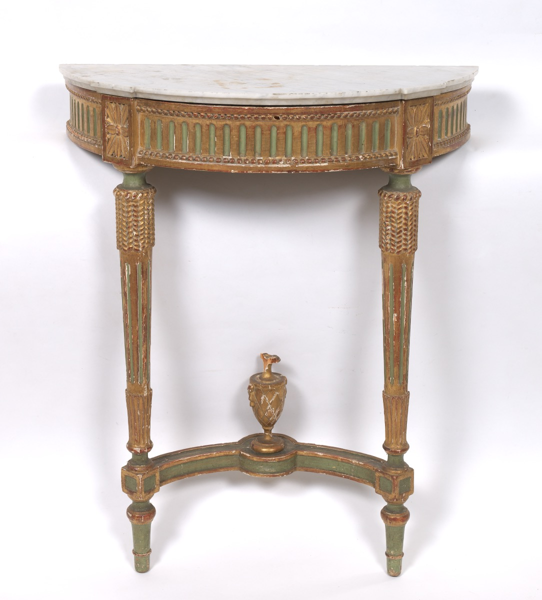 Louis XVI French Wall Mounted Demilune Console Table, ca. 18th ...