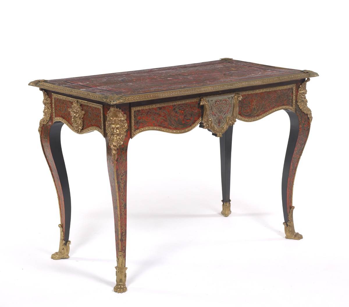 Louis Xiv Red Boulle Writing Desk Ca