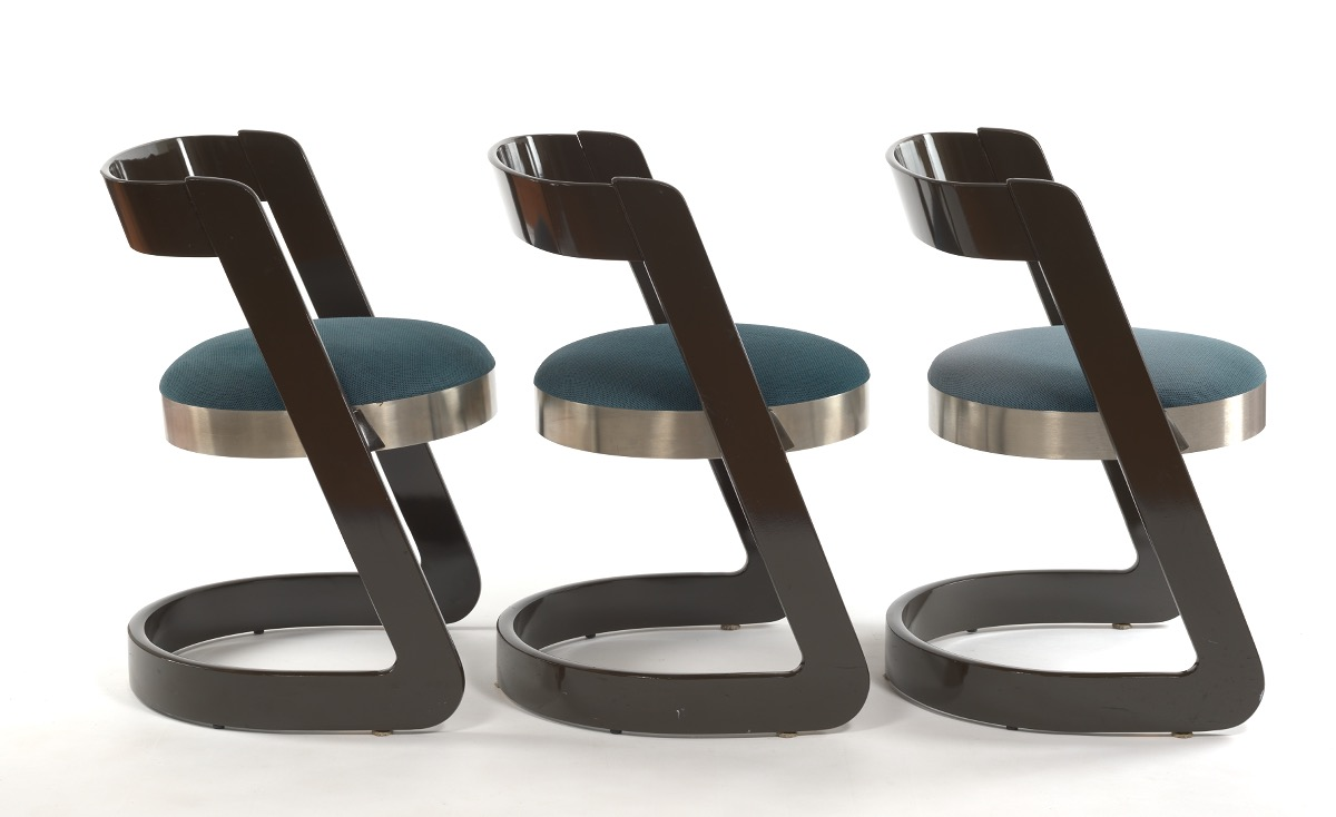 Willy Rizzo for Mario Sabot Dining Room Table and Six Chairs, ca. 1970's