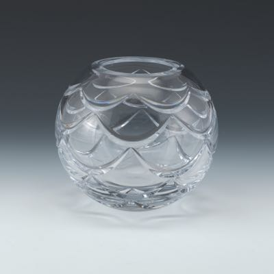 Faberge Atelier Crystal Collection Vase In Presentation Box By