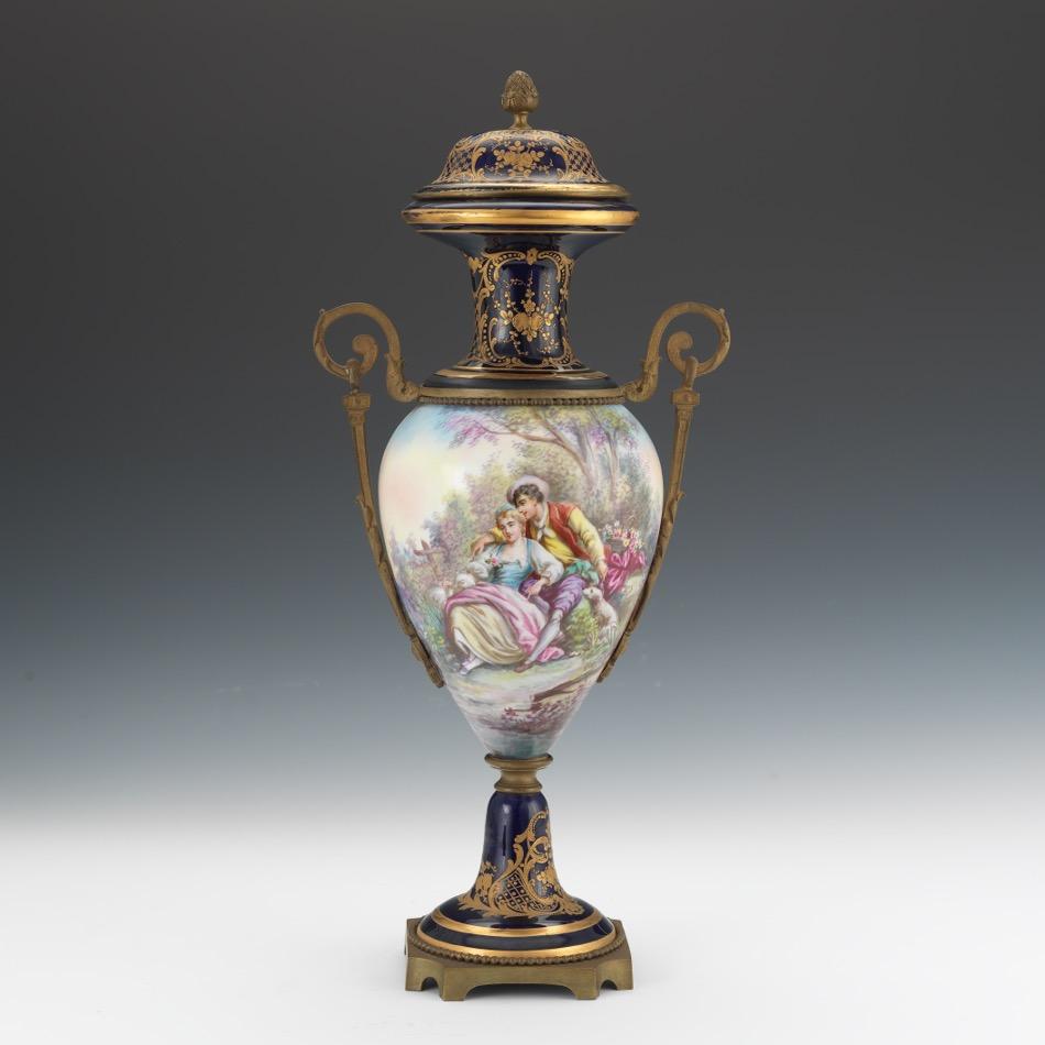 Sevres Chateau Des Tuileries Porcelain Lidded Urn 05 26