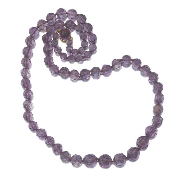 327d2ea5f Tiffany & Co Faceted Amethyst Necklace