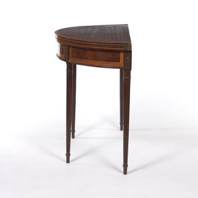 Georgian Style Demi Lune Flip Top Game Table, Late 18th Century