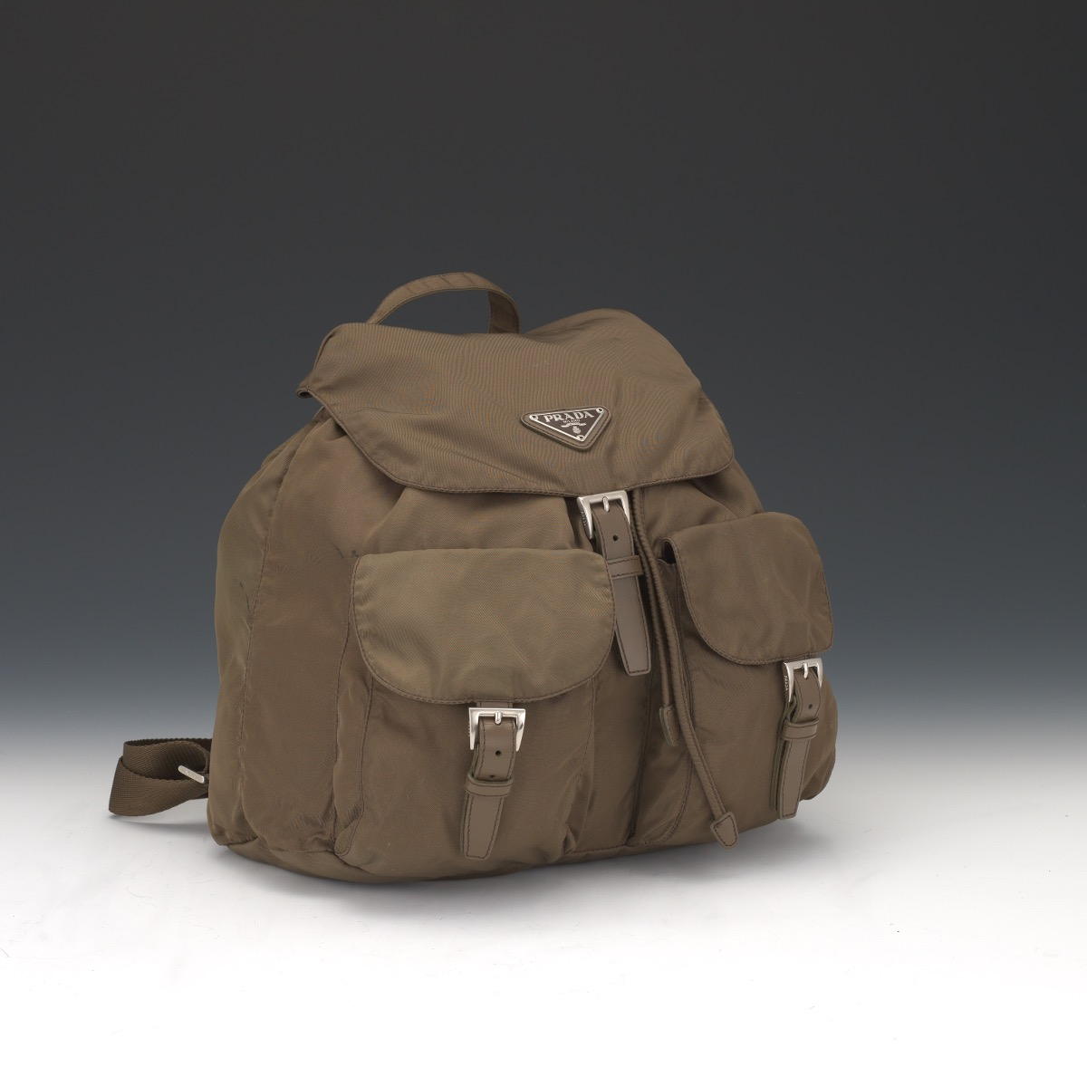 a7a110c04c9f Prada Vela Green Nylon Backpack, 10.29.16, Sold: $542.8