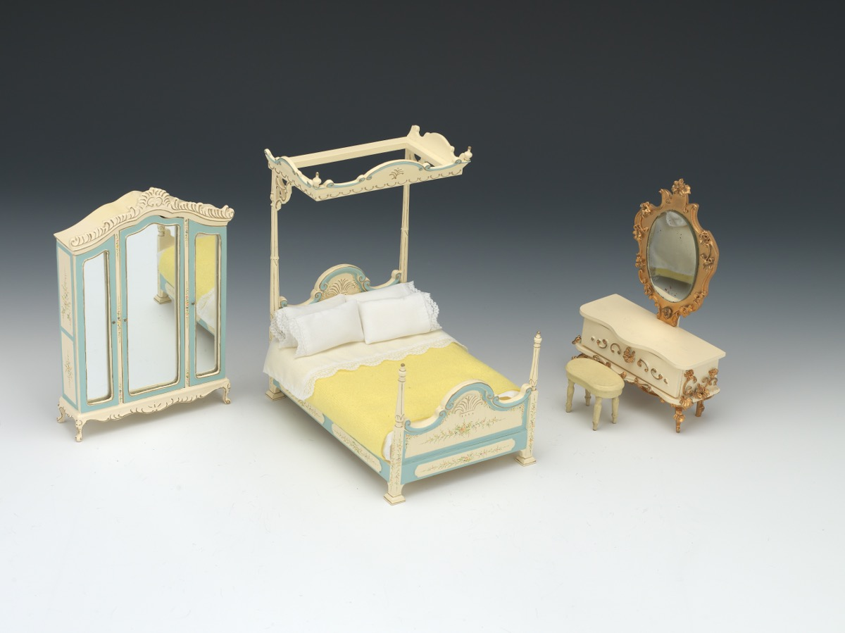 Doll House Bedroom Furniture By Bespaq Co. And Shombecker, Germany