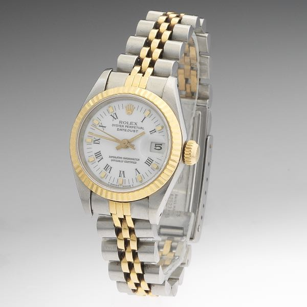 Ladies Rolex Two Tone Oyster Perpetual Datejust Superlative