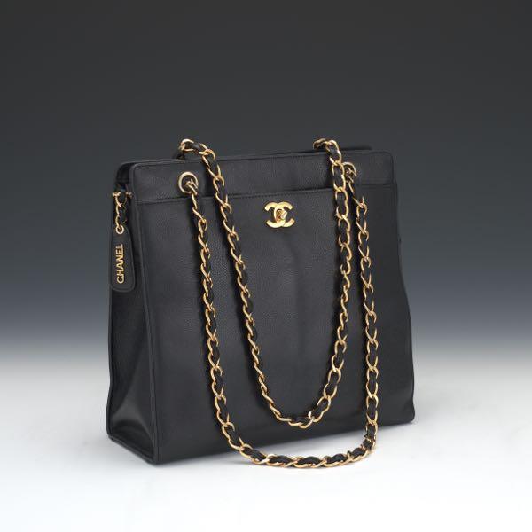 5e59e9abecd7e Chanel Black Caviar Leather Tote