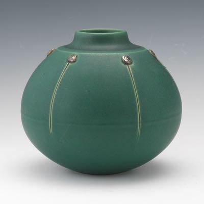 Teco Arts And Crafts Revival Ceramic Vase Ca 20th Century 0914