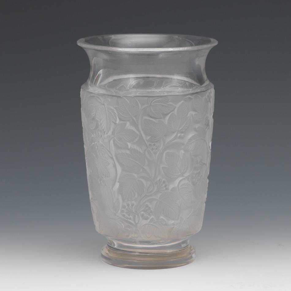 Lalique frosted leaf vase 091216 sold 1475 lalique frosted leaf vase reviewsmspy