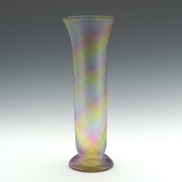 Josef Riedel Art Glass Silhouette Cameo Vase 091216 Sold 1121