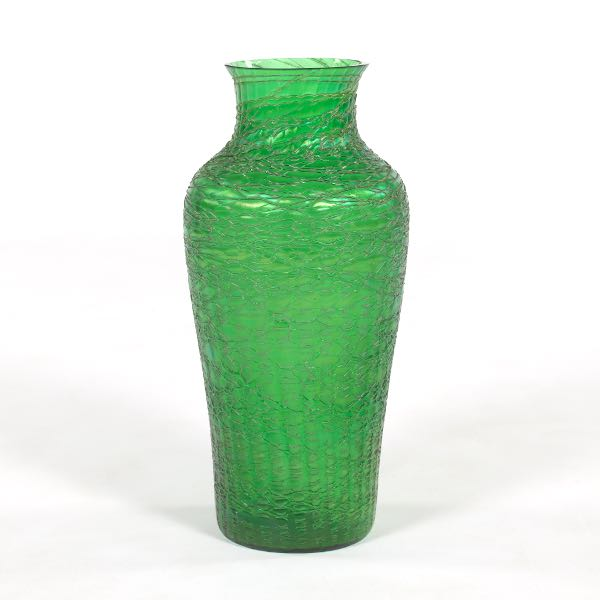 Monumental Loetz Glass Vase Exhibited At The Paris World Exposition