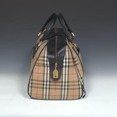 Burberry Vintage Haymarket Check Carry On Travel Bag 02 18 17