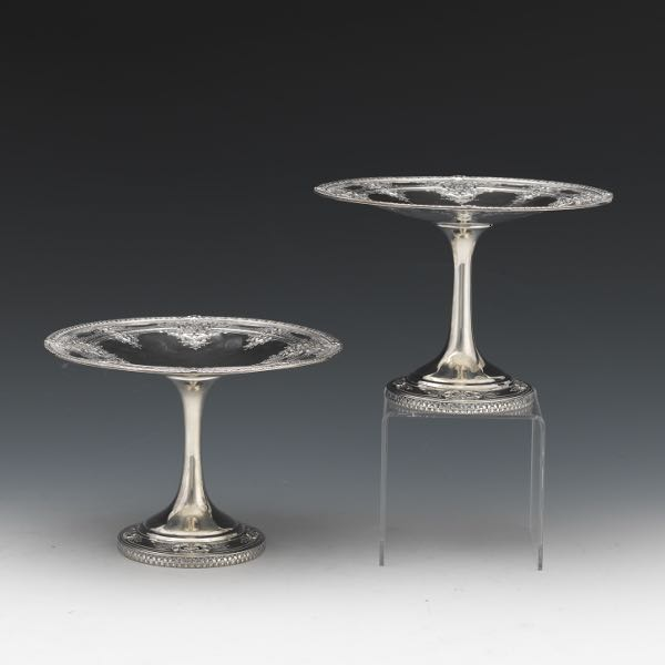 Dominick Haff Sterling Silver Compotes